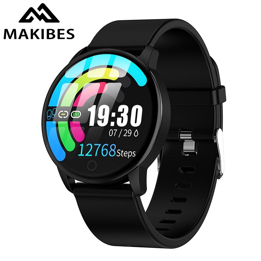 Makibes t5 pro avançado milanês magnético rastreador de fitness relógio inteligente monitor pressão arterial moda pk q8 pulseira
