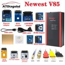 Iprog pro programador v85 adaptadores completos opcional adaptador de sonda pcf79xx rfid 4c substituir carprog/digiprog/tango immo quilometragem airbag