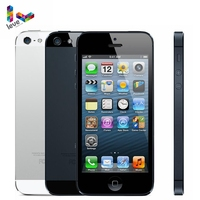 Original Apple iPhone 5 Mobile Phone 16/32/64GB ROM 4.0 8MP WIFI GPS IOS Bluetooth 1.3GHz Fingerprint Unlocked Cell Smartphone