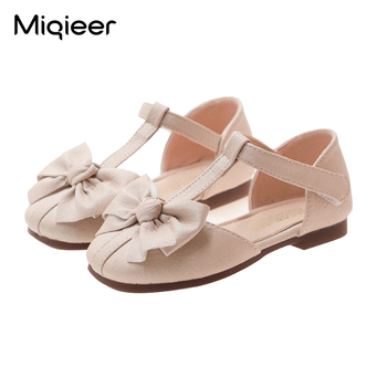 Spring Summer Girls Sandals Fashion Bowknot Party Dance Princess Shoes Soft Bottom Non-slip Children PU Leather Single Shoes abckids new spring autumn girls soft leather shoes children girls princess bowknot sneakers single shoes kids dance shoes rubber