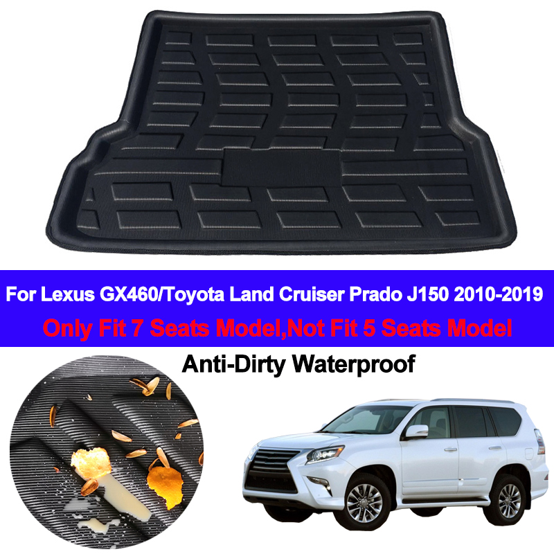 Rear Boot Cargo Liner Tray Trunk Floor Carpet Mats Mat Carpets For Lexus GX460 For Toyota Land Cruiser Prado J150 2010 - 2019