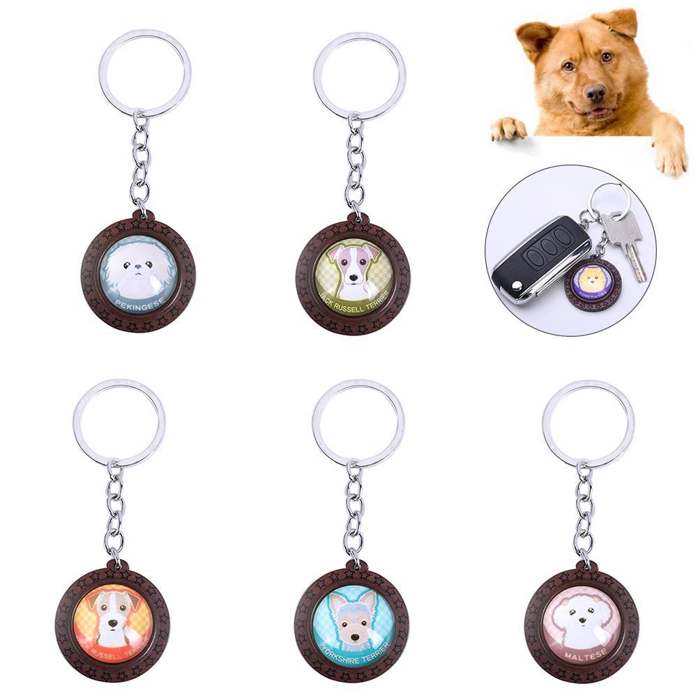 Charm Keychain Men Girls Pet Dog Pendant  Key Rings Women Delicate Gifts LP