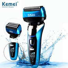 Alternativo barbeador elétrico para homem 3d flutuante quatro lâmina recarregável máquina de barbear pão à prova d43