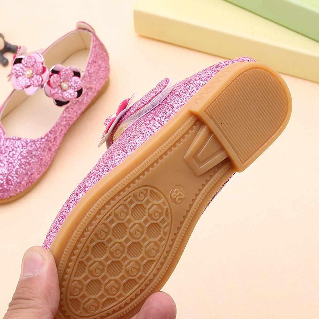 פעוט תינוקות ילדי נעלי תינוק בנות נעלי נסיכת פרח בלינג פאייטים אחת נסיכת נעליים יומיומיות chaussure enfant Oct31