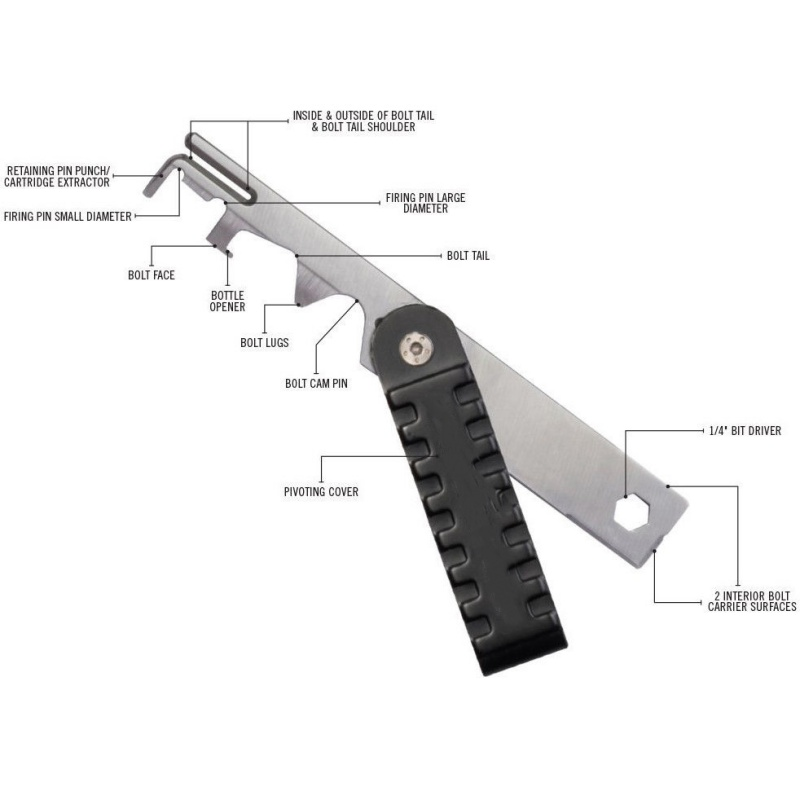 AR15 Scraper Shooting Rifle Cleaning Tools Scraper BCG Removal Tools ZX00