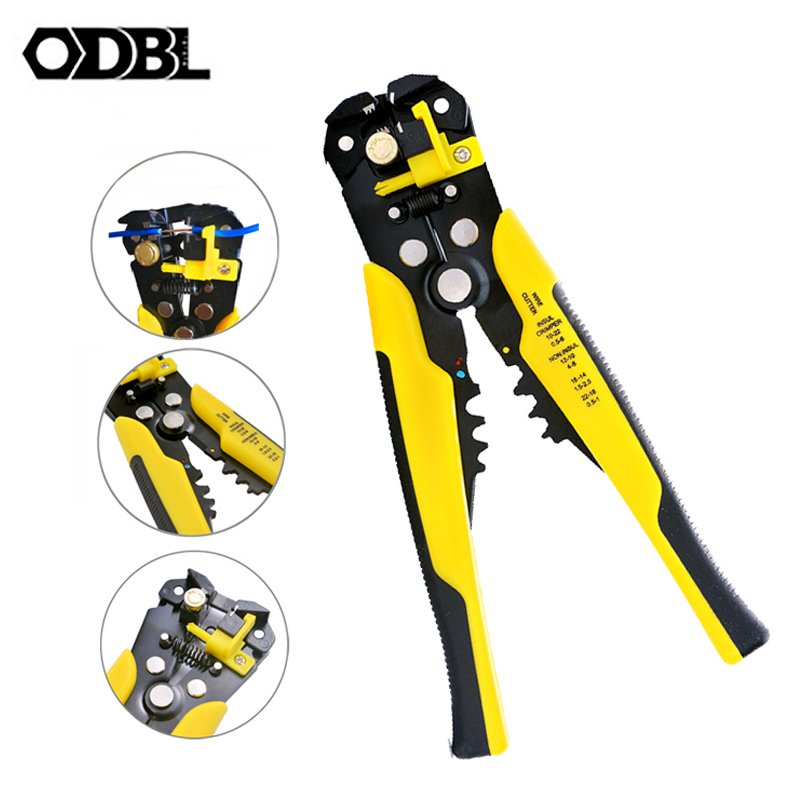 Multi Tools Pliers Automatic Wire Stripper Cutter Cable Capability 0.25-6mm Crimping Stripping Plier Electrical Repair Tools