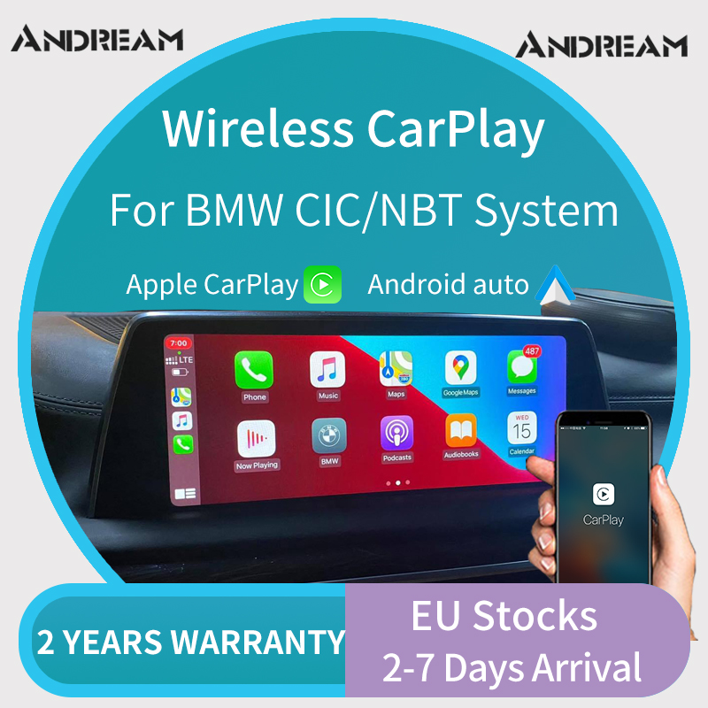 Andream WiFi Wireless Carplay Module AirPlay Android Auto BMW Carplay interface For BMW 3 5 7 Series F30 F33 F10 F01 F02 NBT(China)