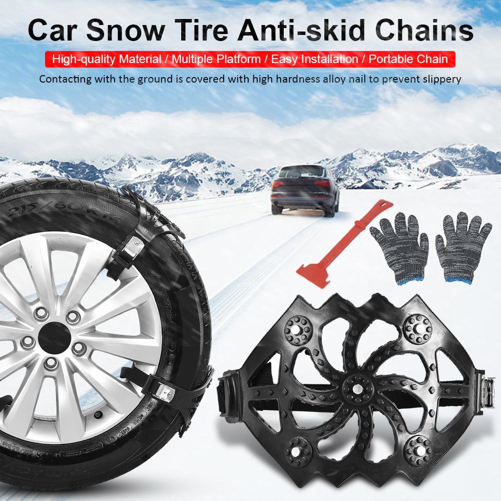 8 pièces/ensemble voiture neige chaîne hiver chaussée sécurité pneu neige réglable anti-dérapant sécurité Double pression roue antidérapante TPU chaînes