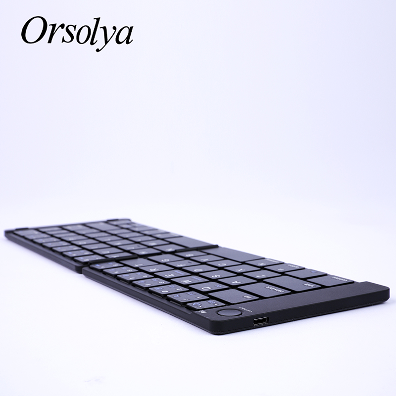 Mini teclado dobrável bluetooth com superfície de