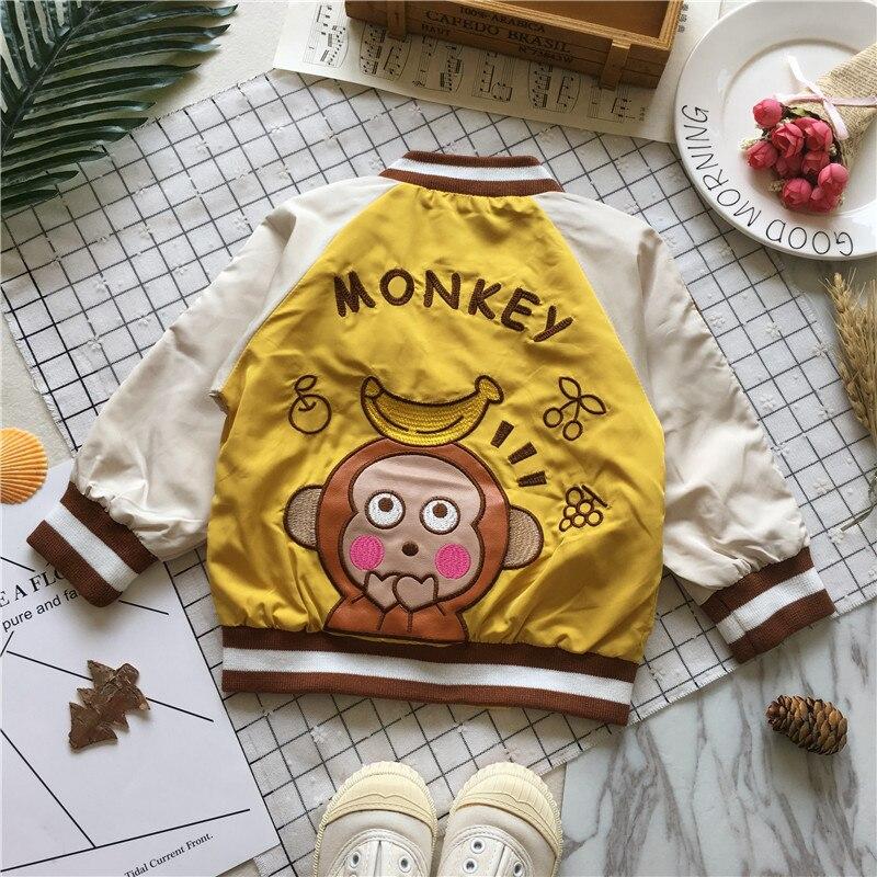Tonytaobaby Autumn Clothing New Style Baby Monkey Stereo Banana Baseball Uniform Jacket Boys Jacket(China)