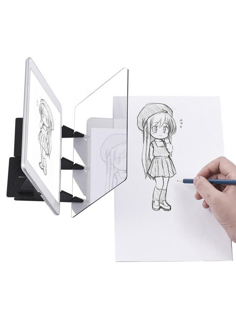 Optical Reflection Tracing Painting Board Copy Pad Anime Paint Art Drawing Sketching Tool Perfect Gift High Quality