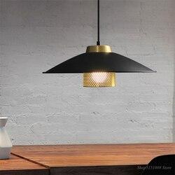 Proste Retro lampy wiszące LED lampka nocna do sypialni salon jadalnia oświetlenie do pokoju czarny żelaza Home Decor wisząca oprawa oświetleniowa E27