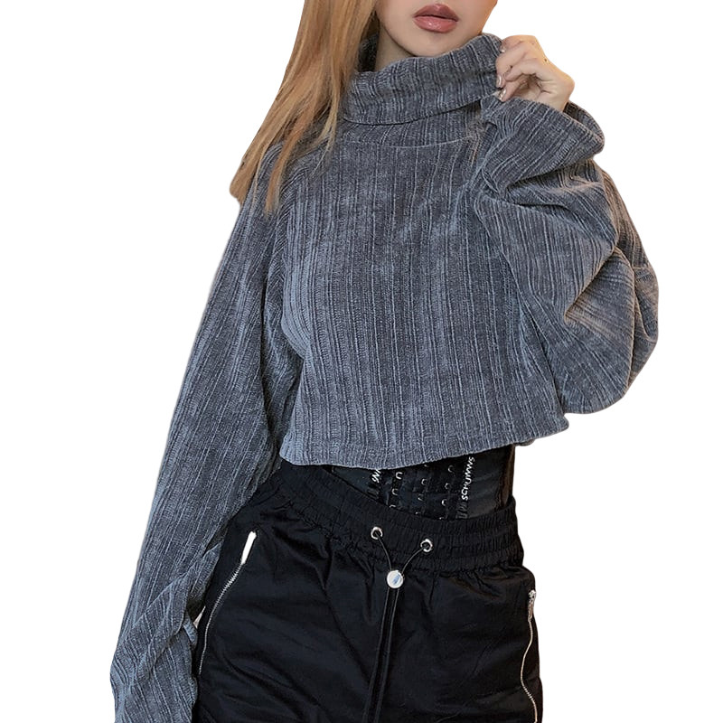 Женская водолазка с длинным рукавом, свободная мягкая удобная дышащая толстовка для отдыха, женская зимняя футболка