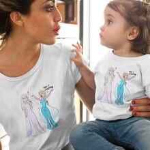Забавные здесь Королева Эльза и подставка disney футболка каваи