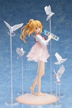 20cm Anime Your Lie in April Cartoon Doll PVC Figure Collectible Model Toy Japanese Action Figure Figurine Collectible Figure dota 2 variant action figure figma sp 070 windranger variable doll pvc action figure collectible model toy 14cm kt3545