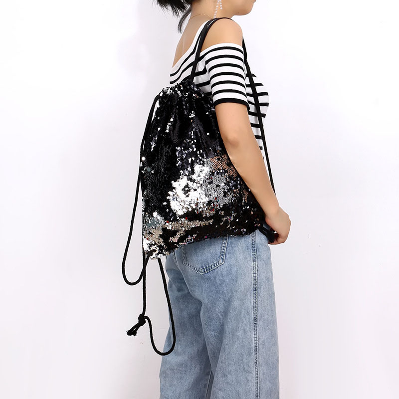 2019 The New Women Girls Reversible Sequin Backpack Shining Durable Shoulder Bags Suitable For Travel WML99