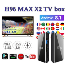 TV Set top box H96 MAX X2 tv boxing 4GB 64GB Amlogic S905X2 H.265 1080p 4K USB3.0 Google Media Player Bluetooth H96MAX smart tv set top box amlogic s905x2 h96max x2 tv boxes 4gb64gb 1080p h 265 android8 1 tv box support youtube netflix tv boxing
