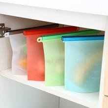 Многоразовая силиконовая пищевая сумка для хранения лучше всего подходит для сэндвича, жидкости, закусок, обеда, фруктов, морозильной камеры герметичное уплотнение кухонные инструменты