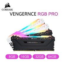 Corsair Vengeance Rgb Pro 8Gb 16Gb 32Gb 64Gb DDR4 3000 3200 3600Mhz 1.35V Desktop geheugen Gaming Pc Ram-Zwart