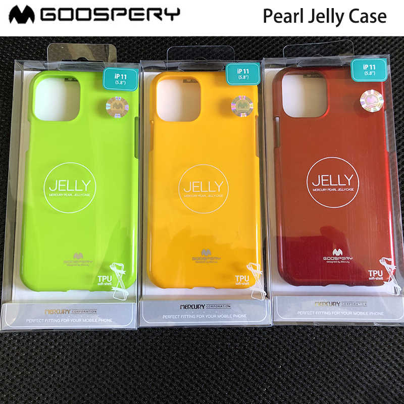 Funda iPhone 8 7 Goospery I Jelly Pearl Black Original