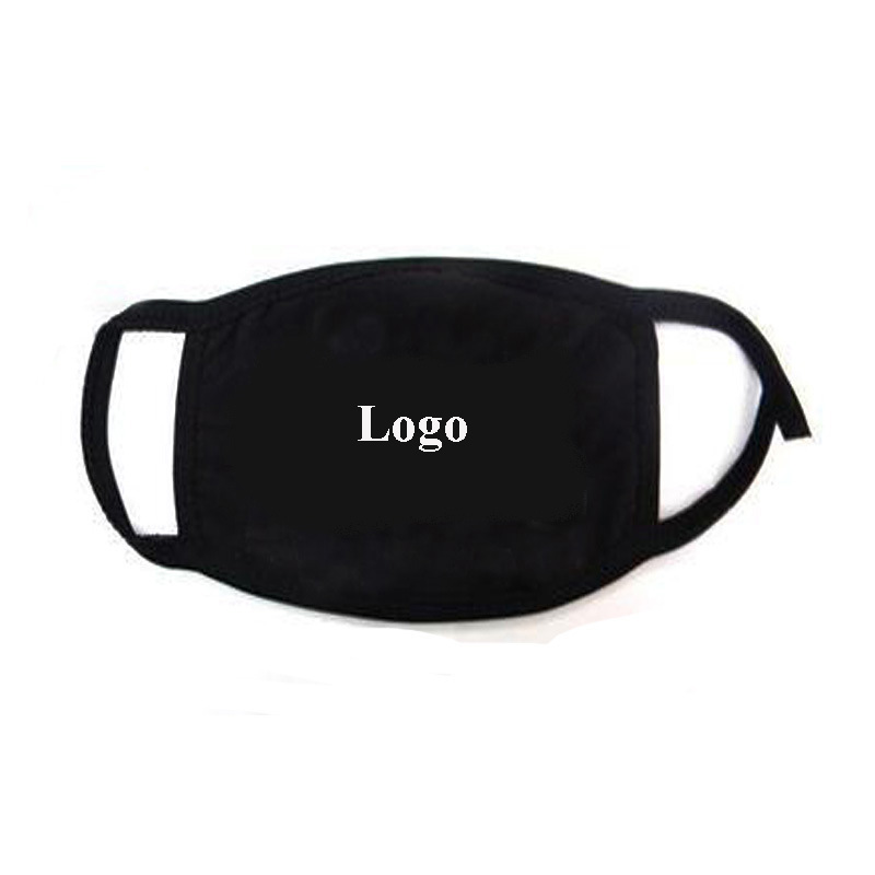 Kpop Customized Cotton Face Mask Any Logo Dust Proof Warm Mask Black Color