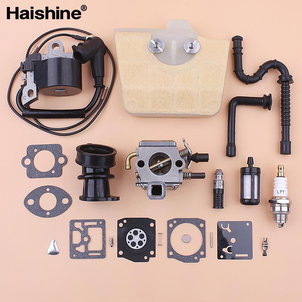 Carburetor Ignition Coil For Stihl MS360 MS340 036 034 Air Fuel Oil Filter Line Intake Manifold Repair Kit Chainsaw