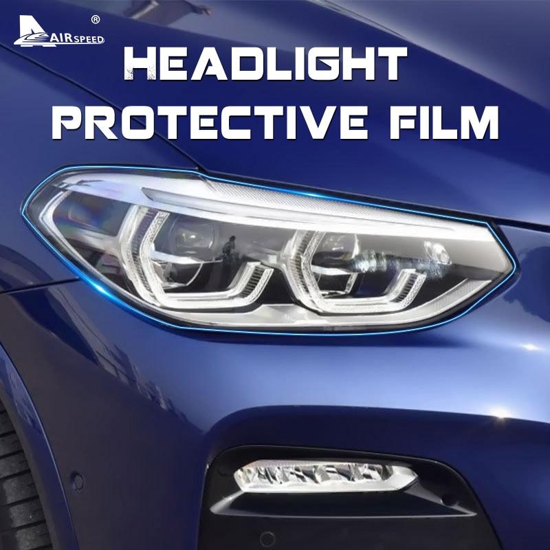 AIRSPEED TPU Headlight Headlamp Protective Film for BMW F07 F10 F15 F16 F25 F26 F22 F30 F34 F36 F48 G11 G01 G30 G32 Accessories