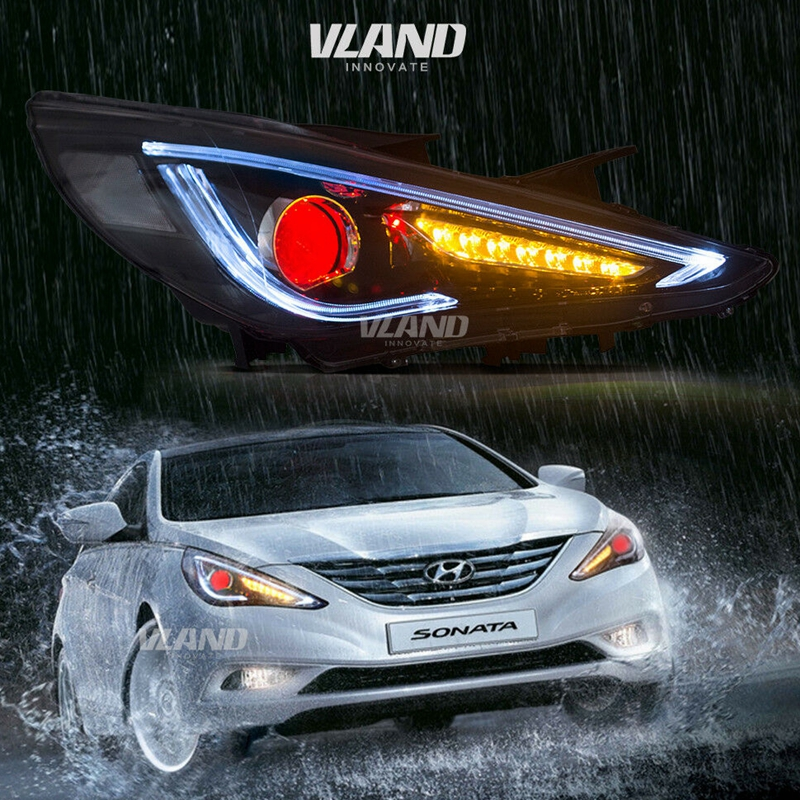 VLAND Factory For Car Headlight For SONATA 2011 2013 2014 Head Lamp And Turn Signal With Sequential Indicator+ Play And Plug