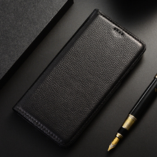 Hakiki deri Flip telefon kılıfı için Xiaomi Poco M2 M3 C3 Pro kapak Fundas Coque çapa kabukları manyetik cüzdan