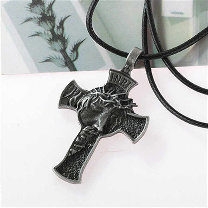 MD Christian jezus krzyż naszyjniki wisiorki złoto srebro modlitwa Choker mężczyźni naszyjnik biżuteria подвеска