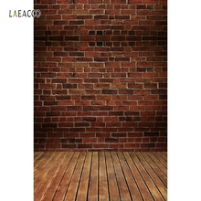 Laeacco Dark Old Brick Wall Wooden Planks Floor Scene Photography Backgrounds Vinyl Custom Camera Backdrops For Photo Studio