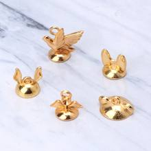 10Pcs Animal Bead Connectors End Bead Cap Bracelet Necklace Resin Jewelry Making Y4QB(China)