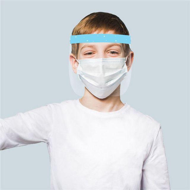 Child Transparent Protect Mask Protective Adjustable Anti-saliva Dust-proof Full Face Cover Children Mask Visor Shield 1