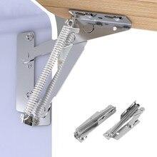 2pcs Folding Sofa Bed spring hinge 10KG 80 degree Cabinet Door Lift Up Stay Flap Top Support Hinges Furniture Hardware bisagra