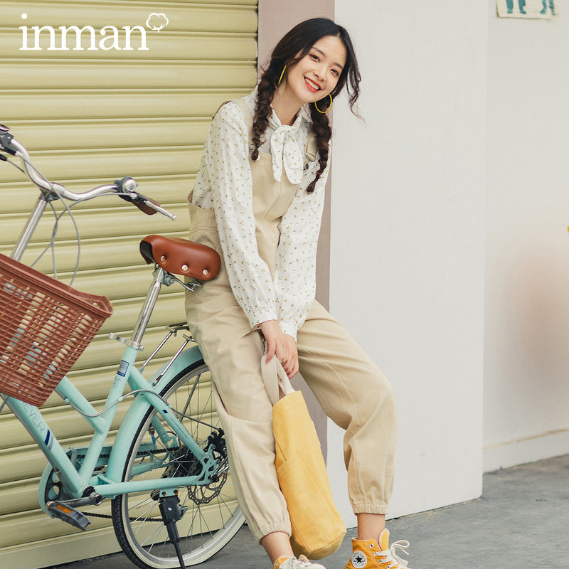 INMAN 2020 Spring New Arrival Literary Age Reducing Adjustable Strap Tighten Up Legs Women Girl Overalls