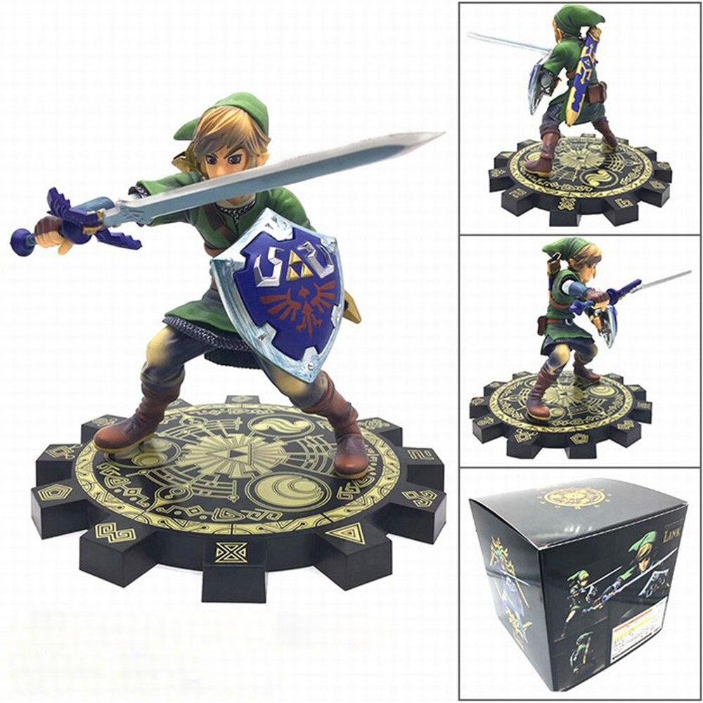 Figura de ação Zelda Ligação Zelda Espada Espada Anime Brinquedos Modelo Boneca Figurine Collectible Juguetes Coletor de PVC Figma