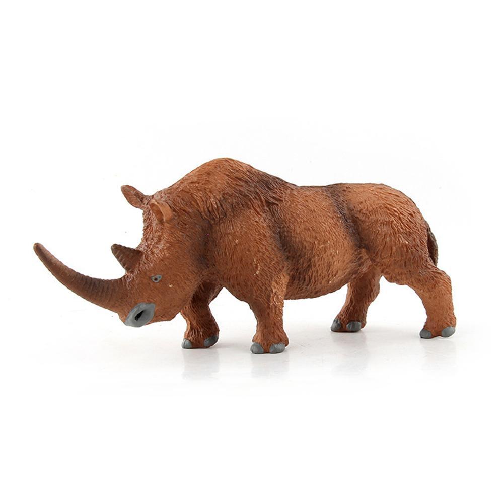 Woolly Rhinoceros Figure Animal Toy Safe Coelodonta Rhino Model Collector Kids Gift Child Educational Toys