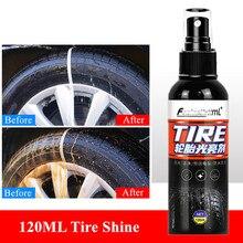 Новинка 120 мл блеск для шин остекление сохраняет шину черная резина защитное покрытие для автомобильных шин восковая полировка для шин