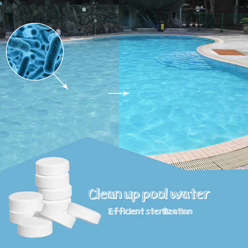 20g=10 Cubic Meters of Water Swimming Pool Disinfection Tablet Cleaning  Effervescent Tablets Multi Use Tub Cleaner Swimming Pool