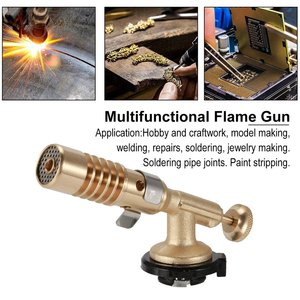 Outdoor Stove Gas Torch Flame Gun Wind Manual Ignition Electronic Butane Gas Gun Adapter Lighter Camping Equipment Tools