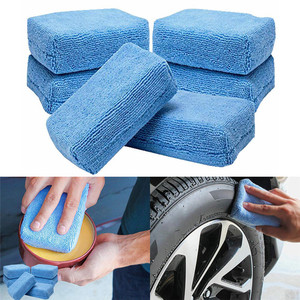 5x samochodowe aplikatory z mikrofibry gąbki ściereczki z mikrofibry ręczne polerowanie woskiem Pad 12cm x 8cm
