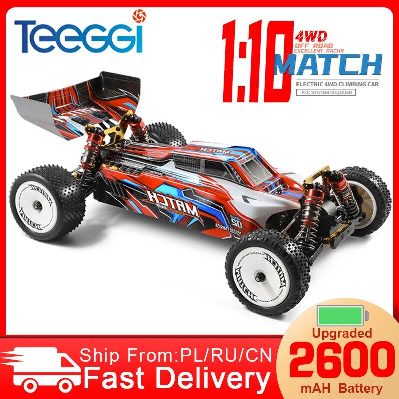 WLtoys 104001 гоночный автомобиль соревнование 45 км/ч Металлическое шасси 4WD электрический пульт дистанционного управления Формула 1:10 Байк VS ...