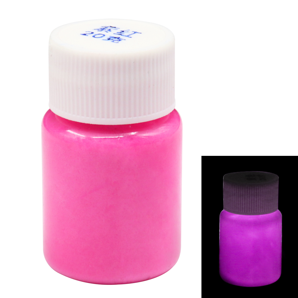 Glow In The Dark Fluorescent Paint For Party Nail Decoration Art Supplies 20g Fuchsia Phosphor Pigment Acrylic Luminous Paint