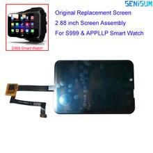 Orijinal kalite 2.88 inç S999 akıllı saat Android 10 telefon izle yedek dokunmatik ekran LCD ekran