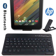 Touch Bluetooth Keyboard for HP Pro 8/Slate 7/Stream 7 Tablet Laptop Wireless Bluetooth Keyboard with Touchpad Keyboard+Bracket