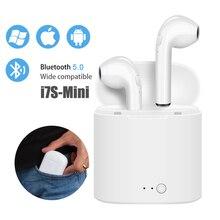 Mini i7s TWS Bluetooth Thật Không Dây Tai Nghe Stereo Không Dây Tai Nghe Nhét Tai Thể Thao Tai Nghe có Mic cho Xiaomi iPhone Điện Thoại