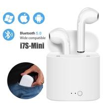 מיני i7s tws Bluetooth אוזניות אלחוטי אמיתי אוזניות סטריאו אלחוטי אוזניות ספורט אוזניות עם מיקרופון עבור xiaomi iphone טלפון