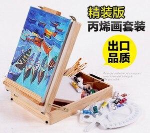 Image 2 - Fileto masaüstü dizüstü bilgisayar kutusu şövale boyama donanım aksesuarları çok fonksiyonlu boyama bavul sanat kaynağı sanatçı damla nakliye