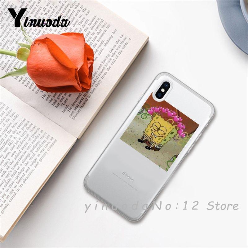 Yinuoda супер милый кот собака мультфильм розовый в форме сердца ты и я серия HD Прозрачный чехол для телефона для iphone 6 7 8 Plus X XS XSMax 5S - Цвет: 14