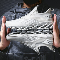 New Men's Shoes Summer Breathable Lace White Shoes Casual Mesh Shoes Shoes Men Tide Shoes Sports Running Off White Brand Shoes